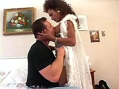 Hot ebony shemale seduces hunk guy